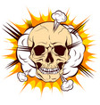 skull on background cloud explosion vector image