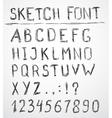 Hand drawn sketch alphabet vector image