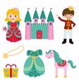 prince and princess set vector image