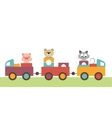 Colorful childrens train vector image