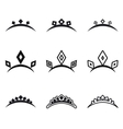 Decorative crowns for princess vector image