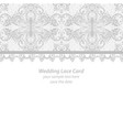 lace wedding invitation delicate card vector image