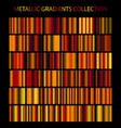 golden cooper bronze colors gradients collection vector image