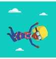 African parachutist jumping with parachute vector image vector image