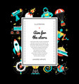 aim for stars - colorful flat design style web vector image vector image