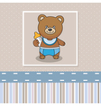 Bear with a baby bottle vector | Price: 1 Credit (USD $1)