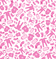 Bright pink baby born seamless pattern vector image vector image