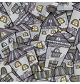 Cartoon houses seamless pattern vector image vector image