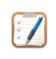 checklist notepad clipboard icon check list board vector image