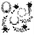 collection floral element vector image