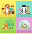 conceptual of different pets dog vector image
