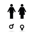 couple with woman and man sign vector image vector image
