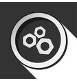 dark gray icon with nuts vector image vector image