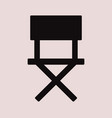 director chair icon vector image vector image