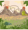 educational maze game help dinosaurs meet fun vector image vector image