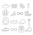 Fashion Accessories Line Icon Set vector image