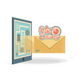 fast delivery with smartphone travel vector image vector image