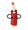 felt pen flat icon red felt-tip with arms vector image
