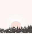 forest landscape4 vector image vector image