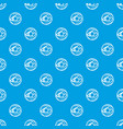 glazed donut pattern seamless blue vector image vector image