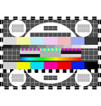Glitch error signal Loss of the television signal vector image vector image