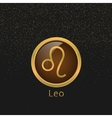 Golden Leo sign vector image