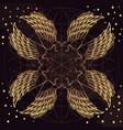 golden wings on purple background design element vector image vector image