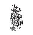 Graffiti alphabet Letters of the alphabet written vector image vector image