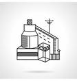 Grain factory flat line icon vector image vector image