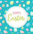 happy easter - greeting card with lettering and vector image vector image