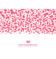 happy valentines day card with hearts pink vector image