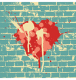 Heart symbol on brick wall vector | Price: 1 Credit (USD $1)
