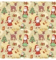 Holliday seamless pattern with santa vector image vector image