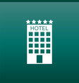 hotel icon on green background simple flat vector image