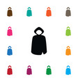 isolated cloak icon hood element can be vector image vector image