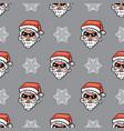 minimalistic christmas pattern santa claus vector image vector image