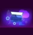 modern cloud technology concept modern laptop vector image