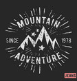 mountain adventure vintage stamp vector image vector image