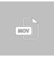 MOV computer symbol vector image