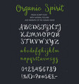 organic spirit brush script alphabet vector image