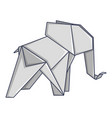 origami elephant icon cartoon style vector image