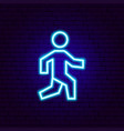 pedestrian neon sign vector image