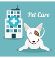Pet care center service icons vector image