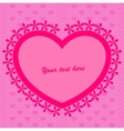 Pink background with heart vector image