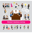 Professional woman business networking vector image