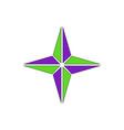 retro star icon vector image vector image
