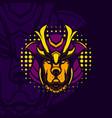 ronin dog mascot vector image vector image