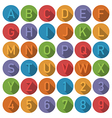 round alphabet icons vector image vector image