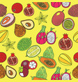 seamless hand drawn pattern with tropical exotic vector image vector image