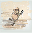 selfie on the skates vector image vector image